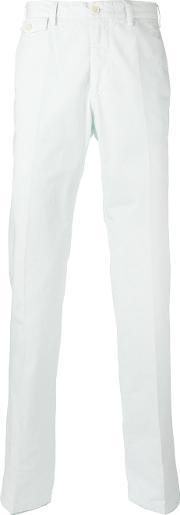 Classic Fit Chino Trousers Men Cotton 50, Blue