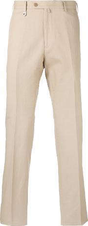 Classic Fit Chino Trousers Men Cottonlinenflax 54, Nudeneutrals