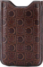 Phone Case Men Leather One Size, Brown