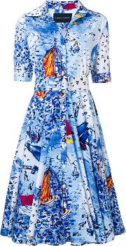 Sailboat Print Dress
