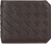 Woven Cardholder Men Leather One Size, Brown