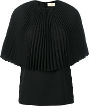 Flared Blouse Women Polyester 42, Black
