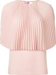 Pleated Cape Blouse