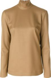 Sara Battaglia Back Zipped Blouse Women Lyocellwool 42, Nudeneutrals
