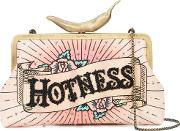Embroidered Hotness Chilli Clutch