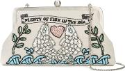 Plenty Of Fish Embroidered Clutch