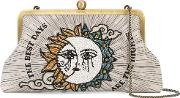 Sun And Moon Embroidered Clutch