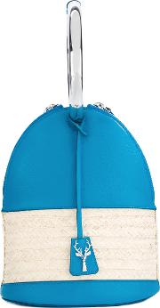 Alice Tote Women Calf Leatherstraw One Size, Blue
