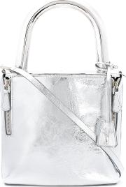 Lucchetto Shoulder Bag Women Calf Leathermetal Other One Size, Women's, Grey
