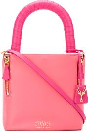 Lucchetto Tote Women Calf Leather One Size, Pinkpurple