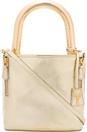 Lucchetto Tote Women Calf Leathermetal Other One Size, Grey