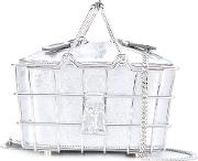 Wire Basket Tote Bag