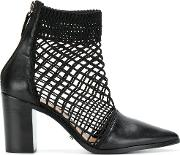 Pointed Perforated Boots