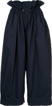 Cropped Balloon Trousers