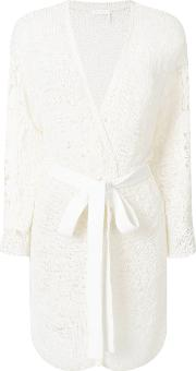 See By Chloe Lace Sleeve Longline Cardigan