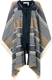 See By Chloe Patchwork Poncho Cape