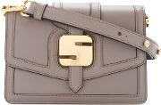 Serapian Metal Detail Shoulder Bag Women Calf Leather One Size, Grey