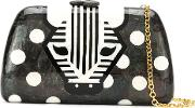 Mother Of Pearl 'zebra' Clutch