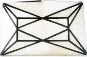 Panelled Mother Of Pearl Clutch Women Mother Of Pearl One Size, White