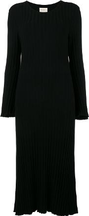 Simon Miller Ribbed Knitted Dress With Flared Cuffs Women Nylonpolyurethanetencel 3, Black