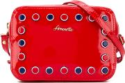 Studded Shoulder Bag Kids Patent Leather One Size, Girl's, Red