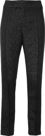 Cigarrete Trousers Women Polyester 2, Black
