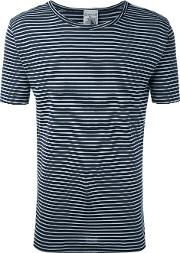 S.n.s. Herning Lemma Striped T Shirt Men Cottonpolyester S, Blue