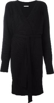 'm' Belted Cardi Coat Women Merino L, Black