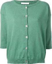 'square' Cardigan Women Cotton 2, Green