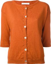 'square' Cardigan Women Cotton 2, Yelloworange