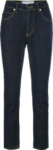 Societe Anonyme Cropped Skinny Jeans Women Cotton Xs, Blue