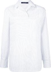 Sofie D'hoore Collared Blouse With Oversize Pocket Women Cottonlinenflax 38, Women's, White