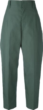 Sofie D'hoore High Waisted Trousers Women Cotton 36, Green