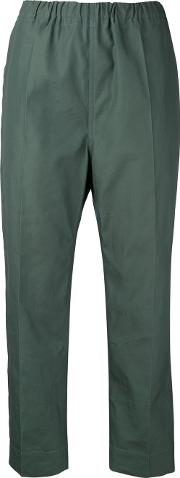 Sofie D'hoore Piano Cropped Trousers Women Cotton 36, Green