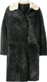 Sofie D'hoore Shearling A Line Coat Women Lamb Skinlamb Fur 38, Grey