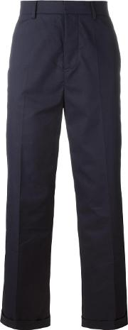 Sofie D'hoore Tailored Cropped Trousers Women Cotton 36, Blue