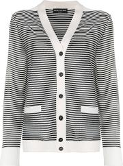 Striped Button Down Cardigan