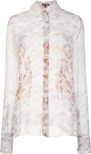 Sheer Marble Effect Blouse