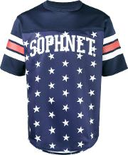 Star Print Football T Shirt