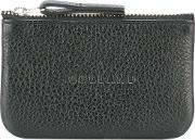 Embossed Front Wallet Men Leather One Size