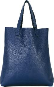 Shopper Tote Men Leather One Size, Blue