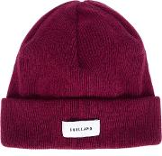 Soulland Classic Beanie Men Wool One Size, Red