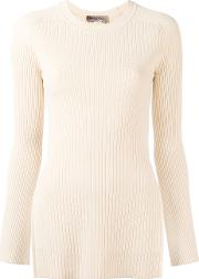 Torre Ribbed Kniited Blouse Women Polyesterviscose L, Nudeneutrals