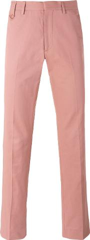 Chino Trousers Men Cotton  Pinkpurple