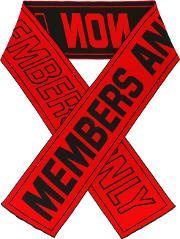 Members Only Scarf Men Cottonpolyamidespandexelastanewool One Size, Red