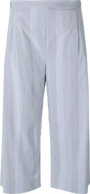 Intuition Cropped Trousers Women Cotton Xs, Blue