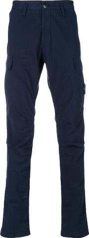 Fitted Chino Trousers Men Cottonspandexelastane