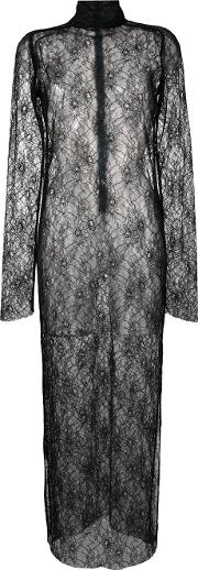 Funnel Lace Dress Women Polyester S