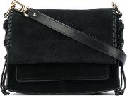 Stuart Weitzman Lolapearl Shoulder Bag Women Calf Suede One Size, Black