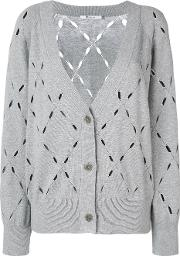 T By Alexander Wang Knit Cardigan Women Cottonmodal M, Grey